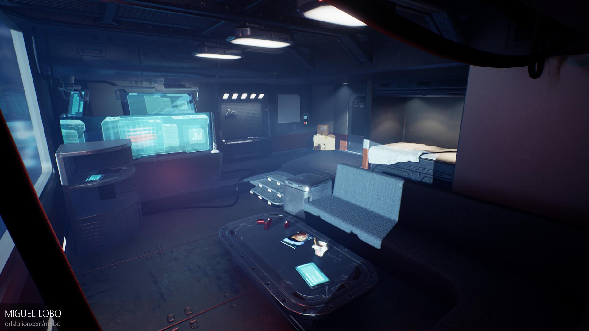 Artstation Apartment G 72 Cyberpunk Room Environment Miguel Lobo
