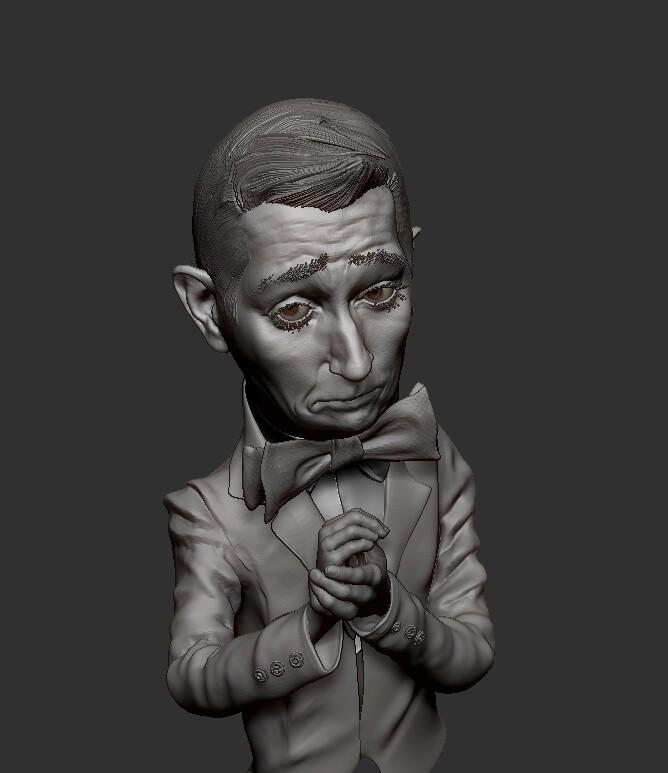 A sculpt of PeeWee Herman