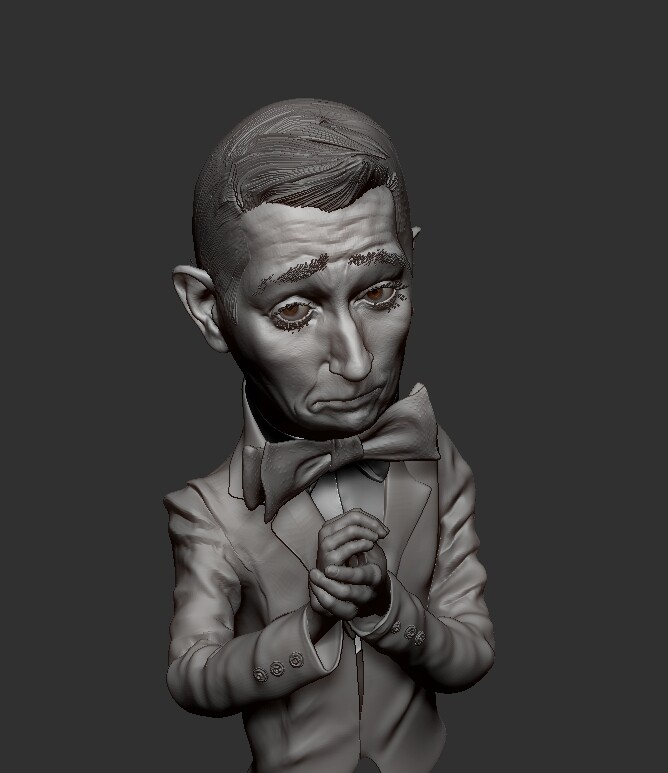 A sculpt of PeeWee Herman