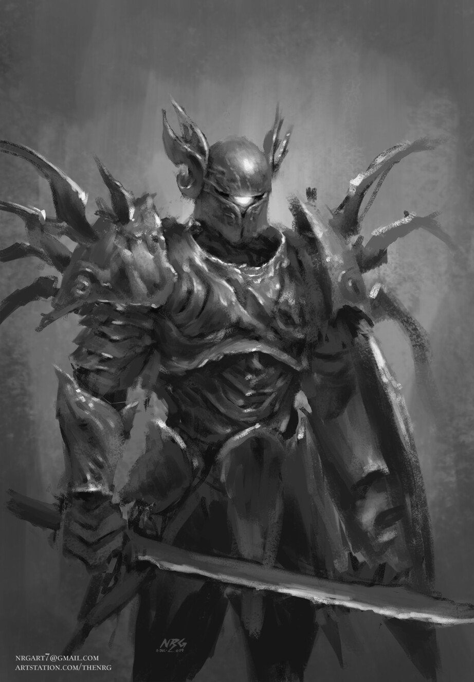 The nrg 1 hour painting test 1 dark souls like cursed knight web