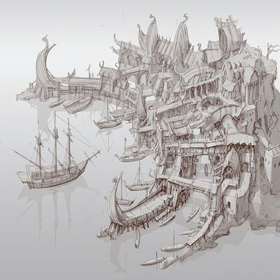 Min seub jung harbor town 2