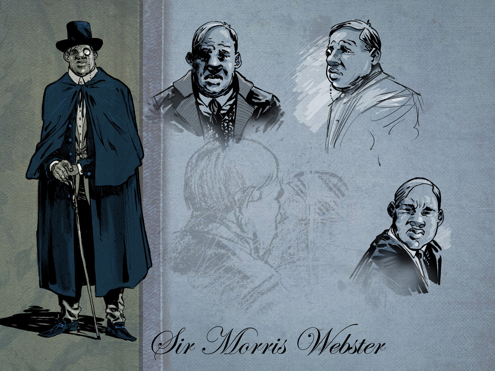 Webster character design