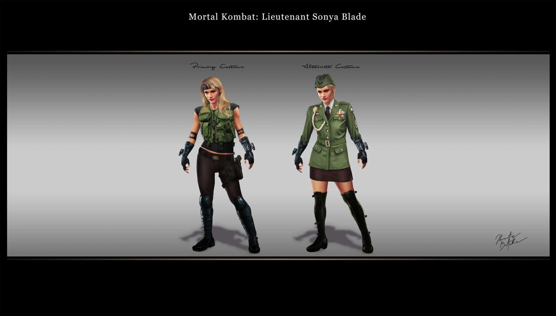 Artstation Mortal Kombat Sonya Blade Redesign Jhonatas