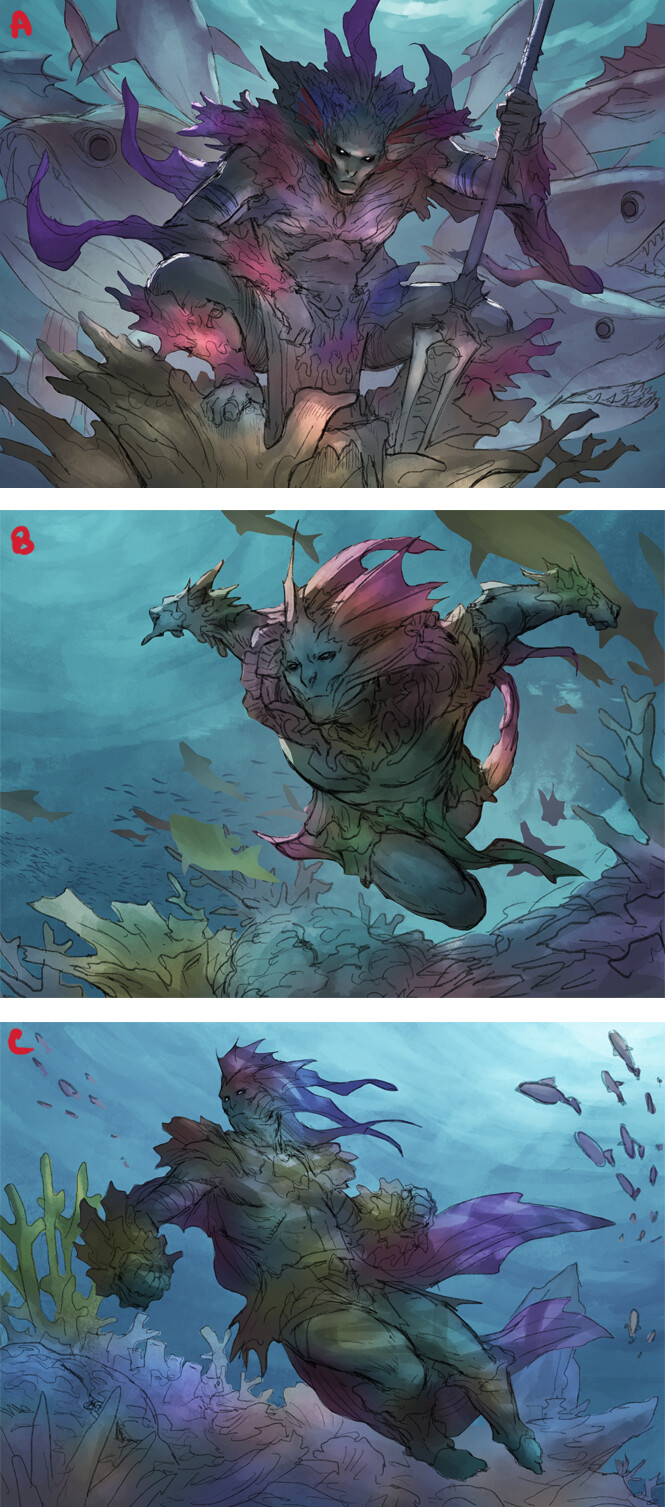 Lie setiawan coral merfolk roughs