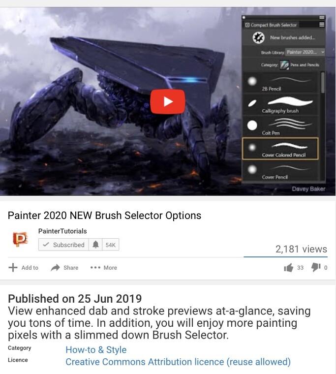 ....Corel promotion video for Painter 2020!