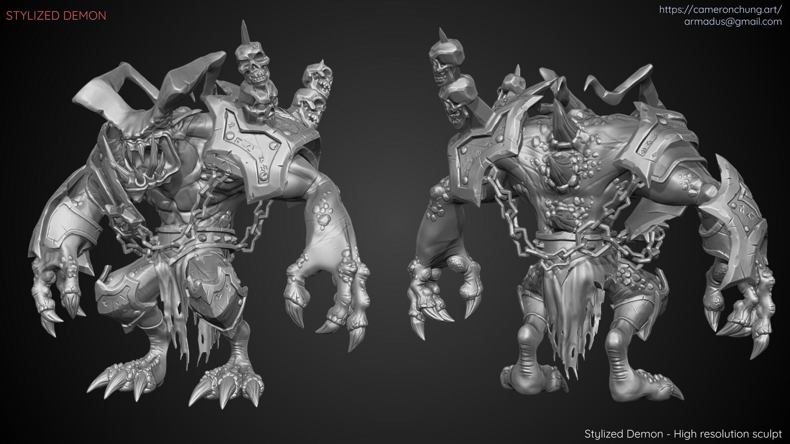 Stylized Demon - Zbrush sculpt