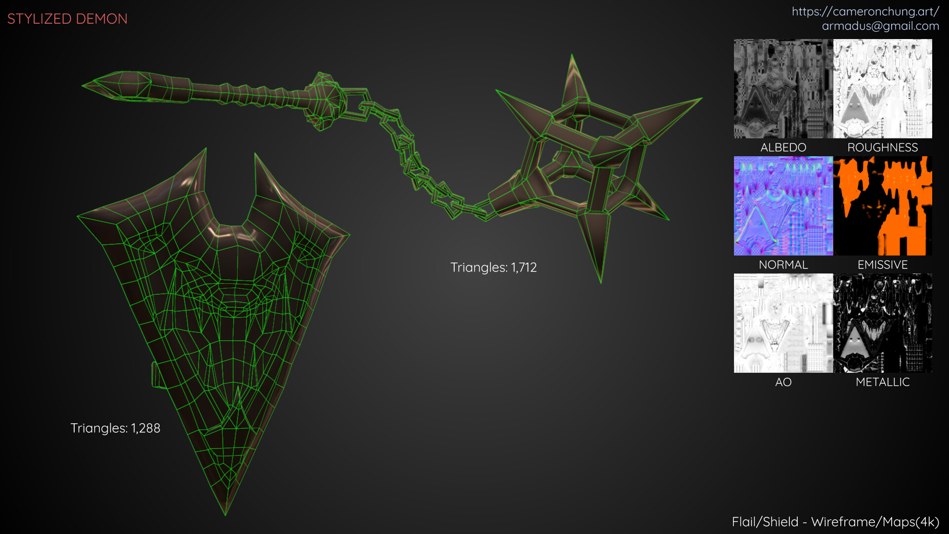 Flail / Shield - Wireframe