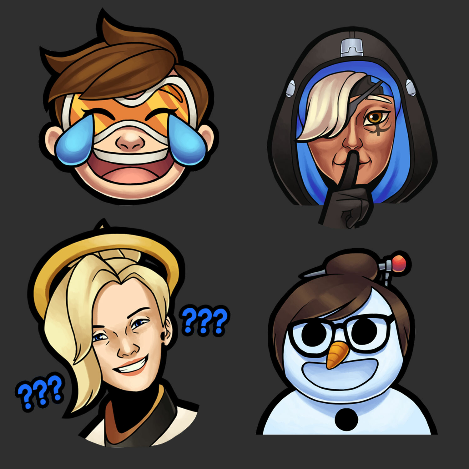 Overwatch themed emotes