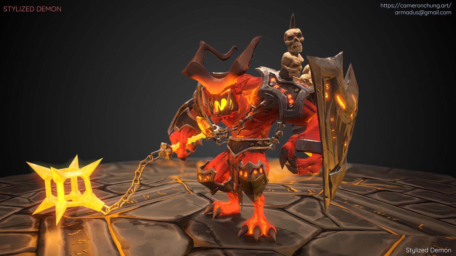 Stylized Demon - Marmoset Toolbag 2