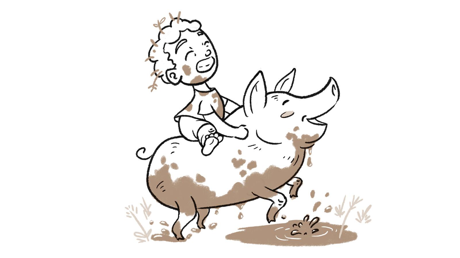 Fun, mud, sport and a 200 pounds Piggy