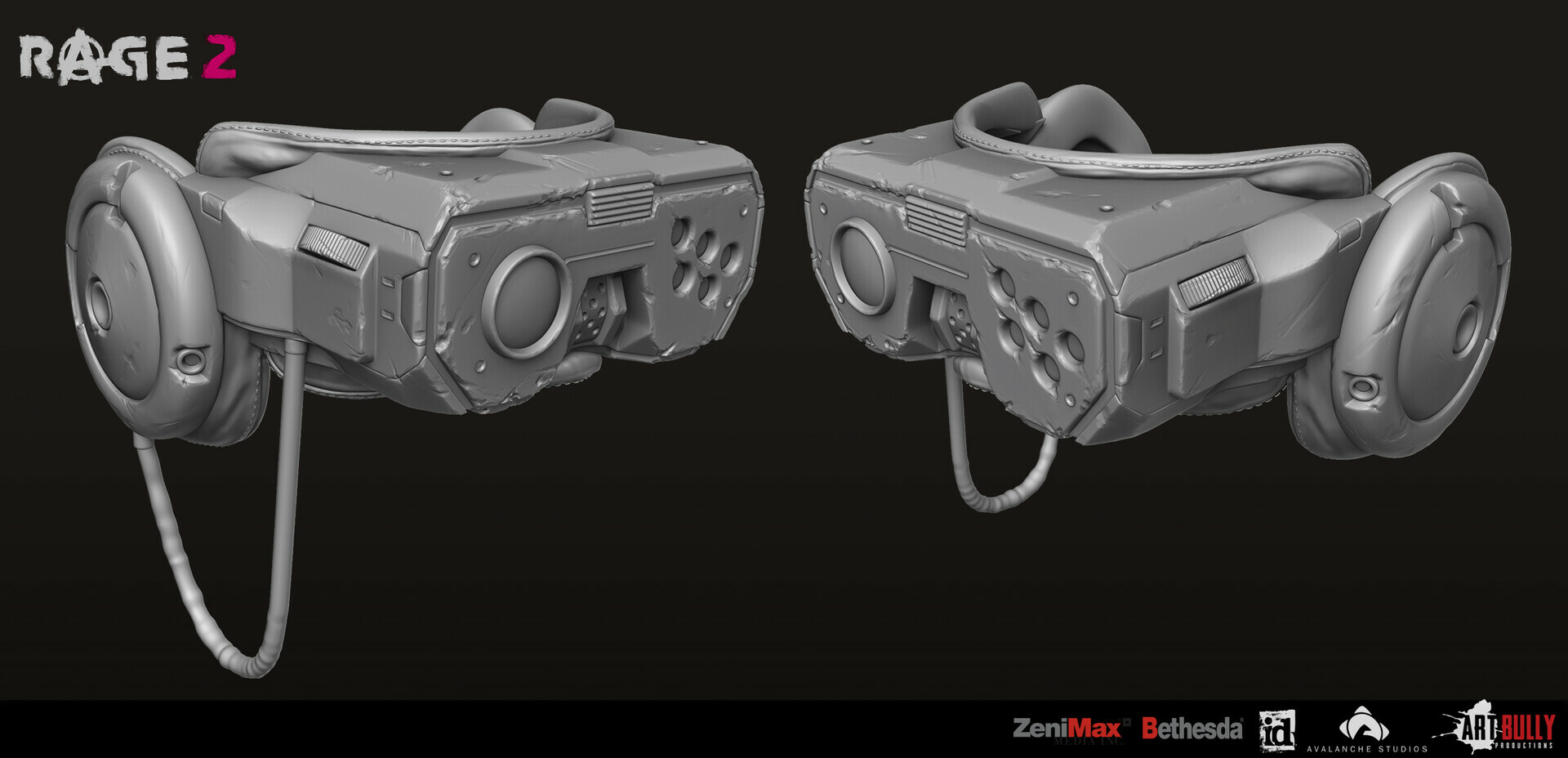Patrick nuckels art bully productions civilian gear set 03 hex 03 cyberpunk goggles render