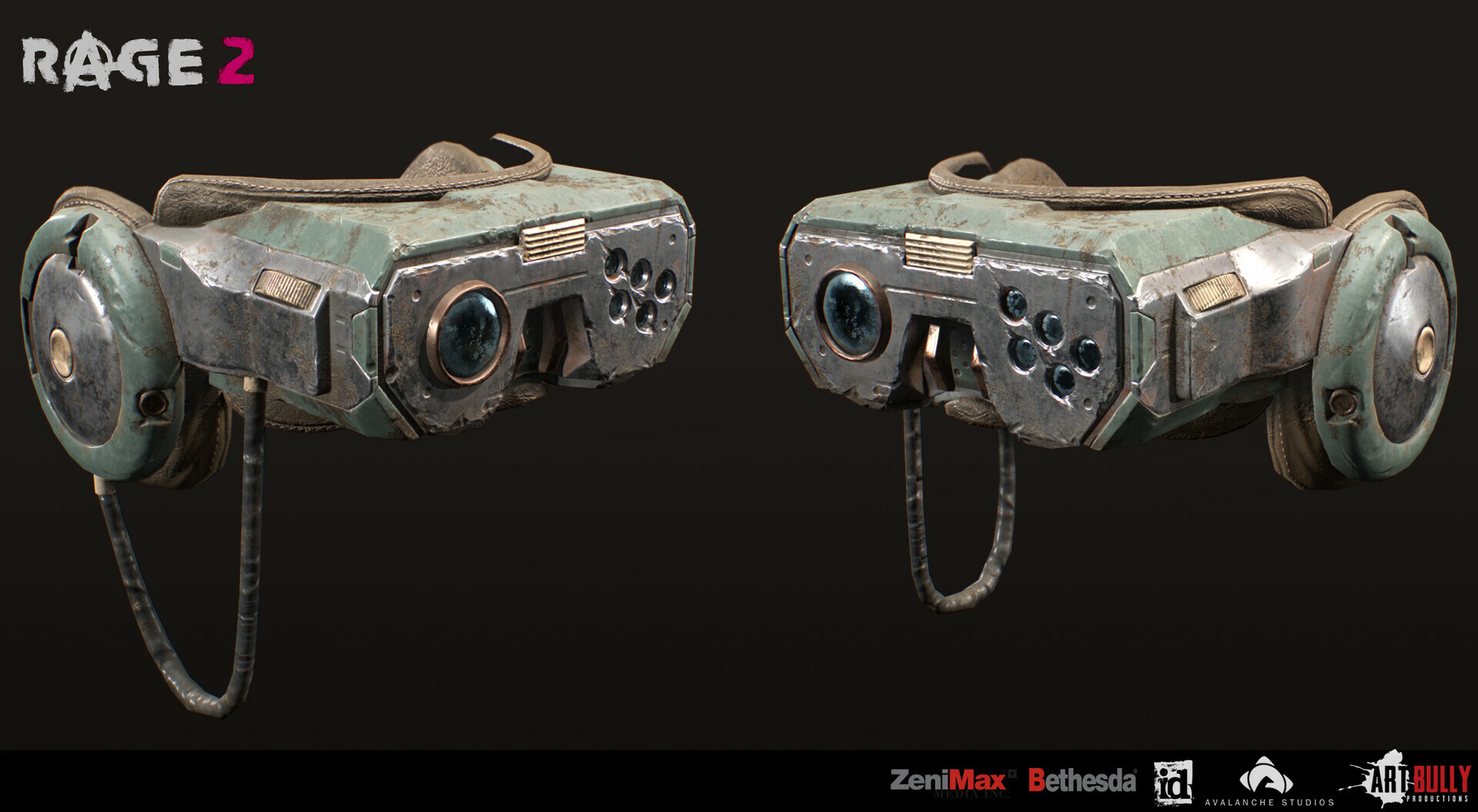 Patrick nuckels art bully productions cyberpunk goggles