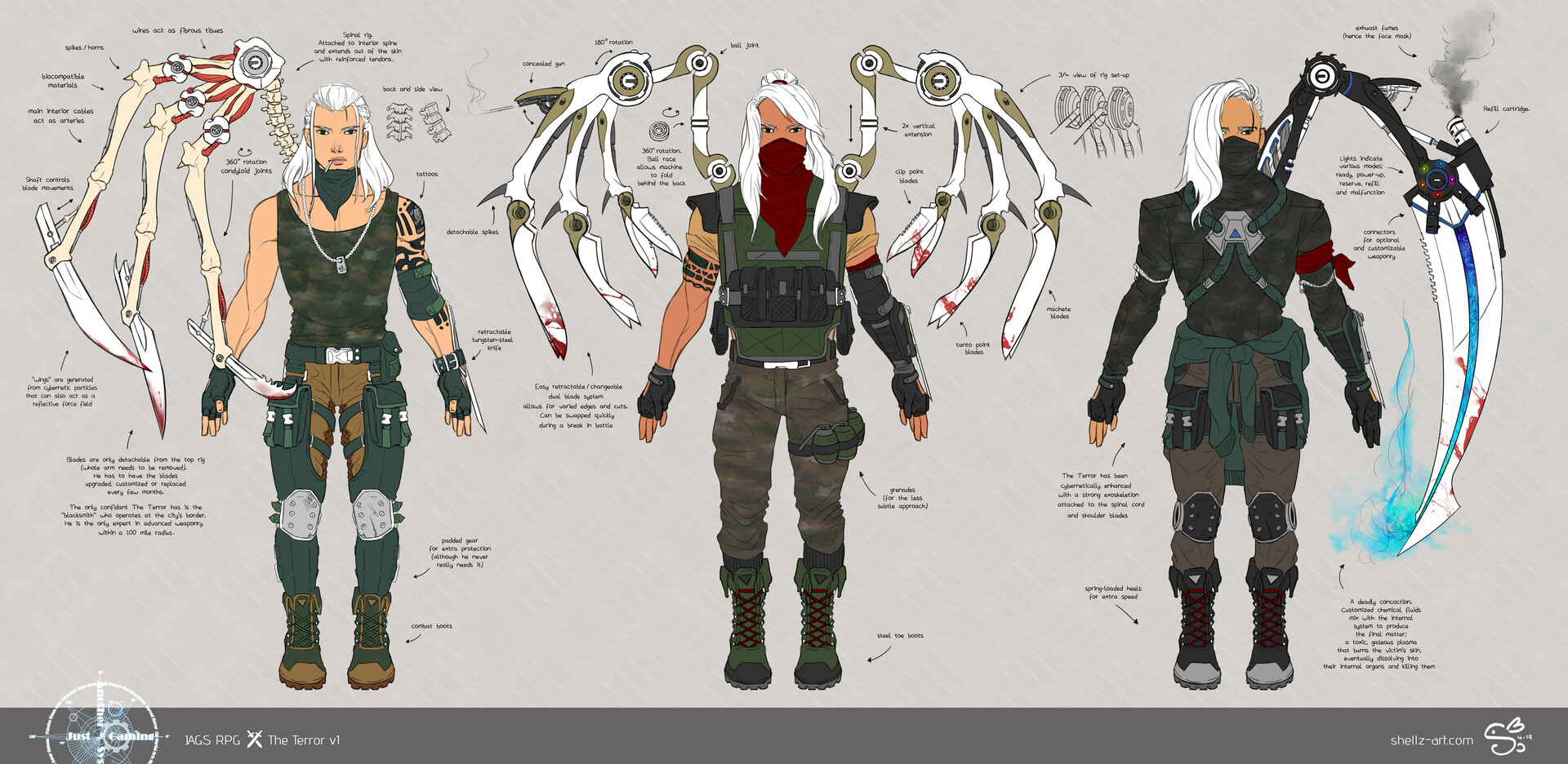 Shellz art concepts the terror v1