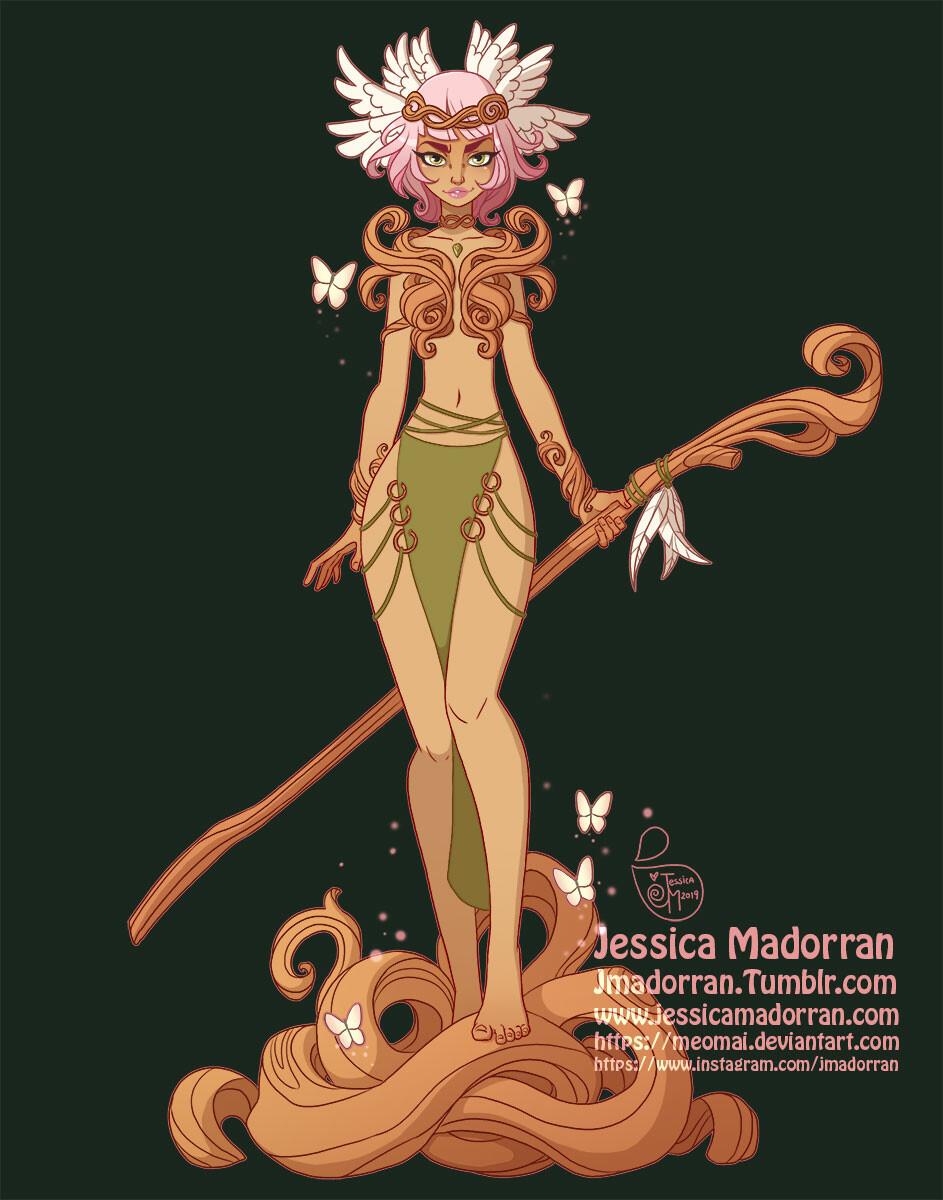 Jessica madorran character design redesign wood queen 2019 artstation01