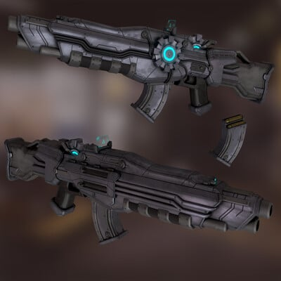 Guillaume bolis assault rifle render 1