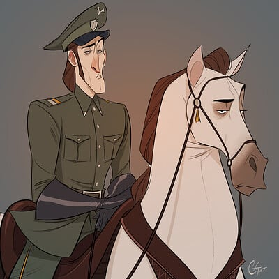 Christopher ables military captain on horse