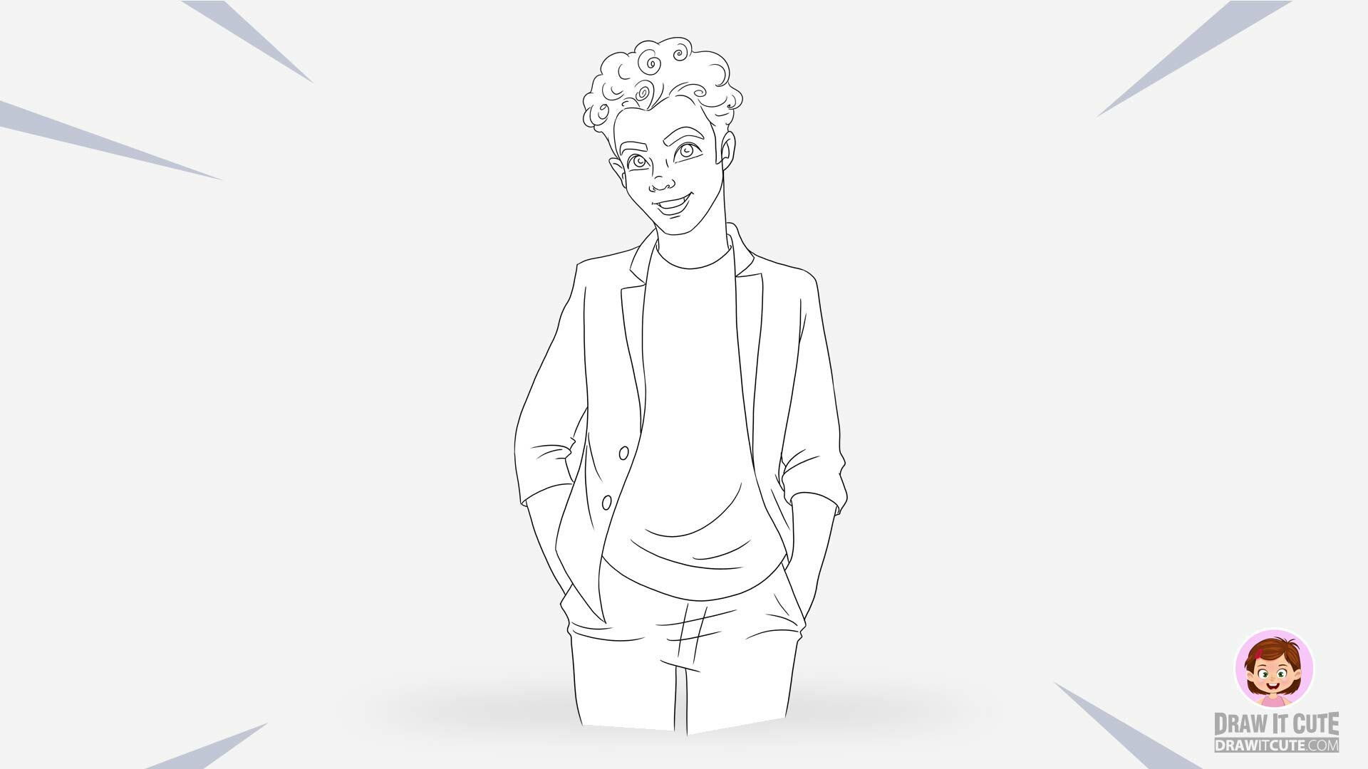Artstation How To Draw Cameron Boyce Simple Step By Step