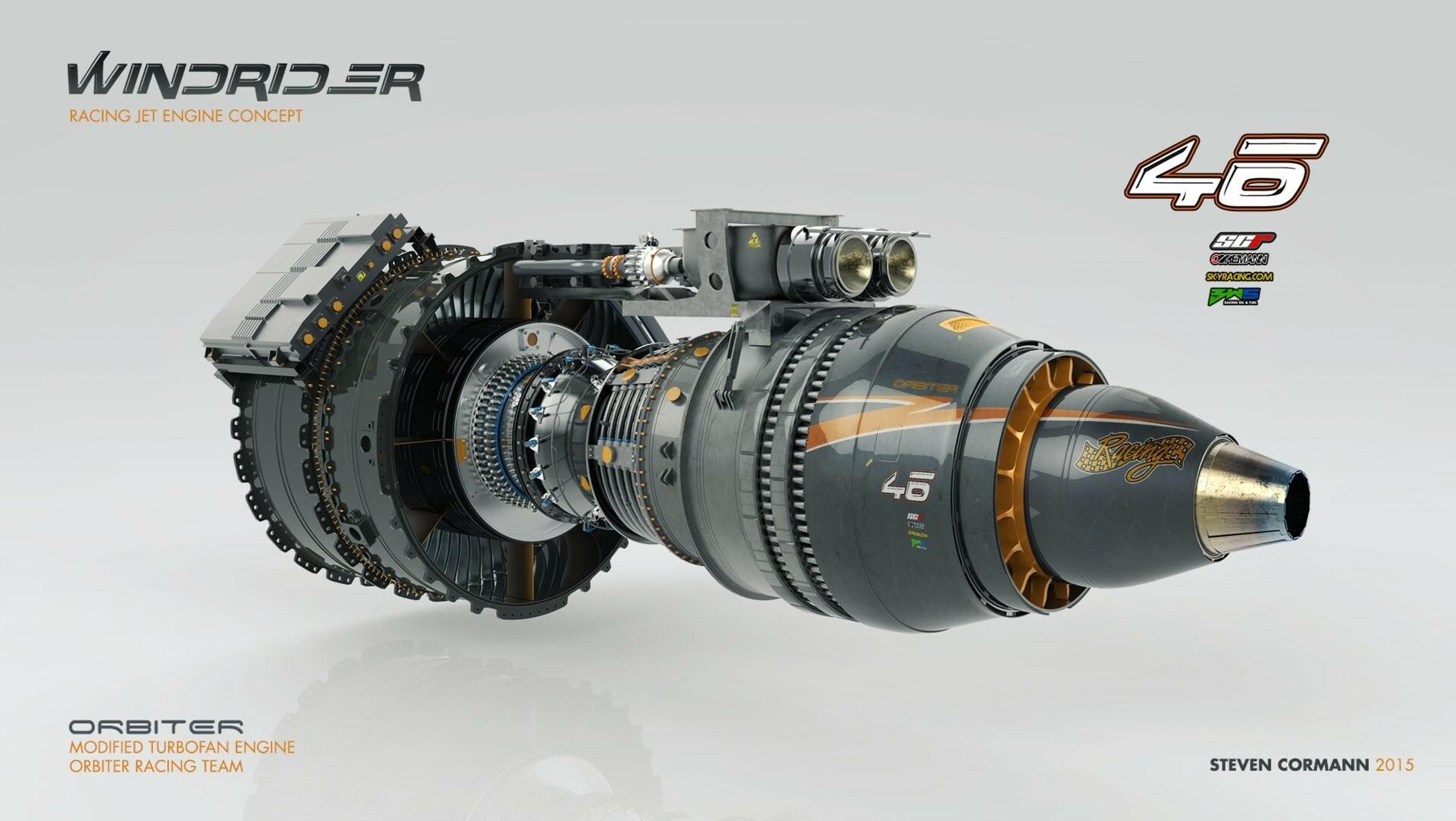 ArtStation - Jet engines 2015, Steven Cormann