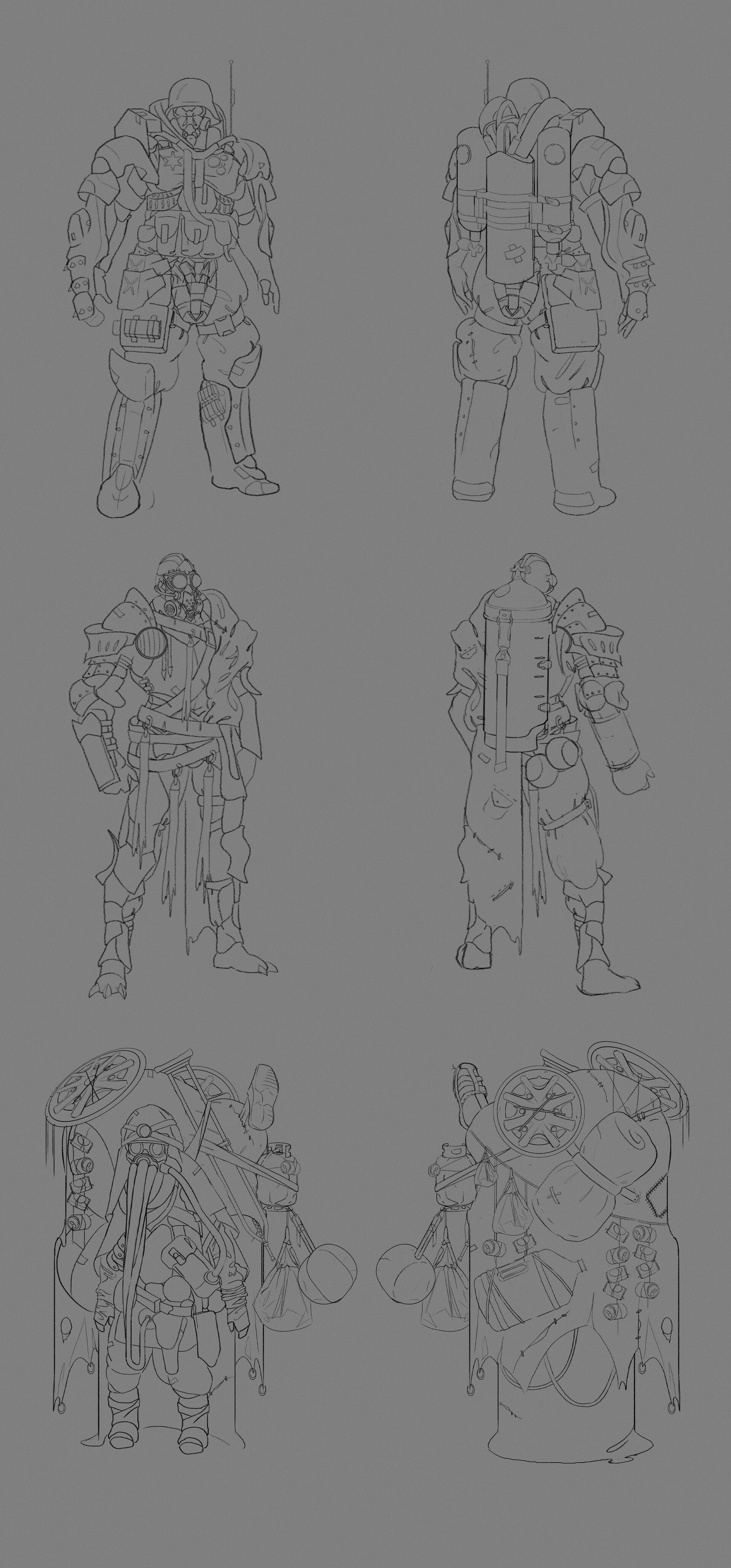 James starr king starr king post apoc armor sketches