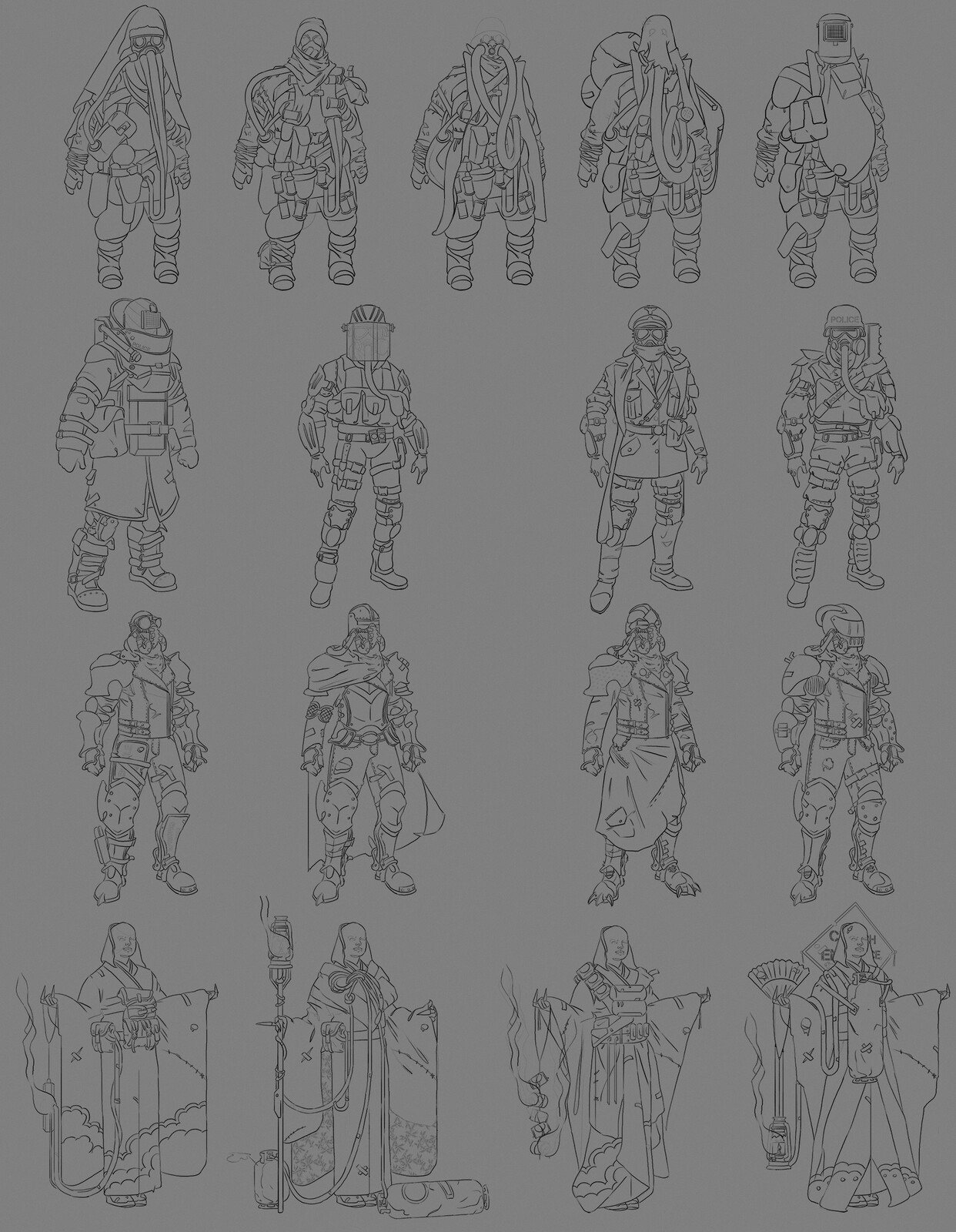 Post-apocalyptic Armor Concept