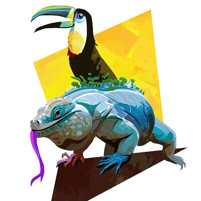 Hugo puzzuoli iguane toucan small