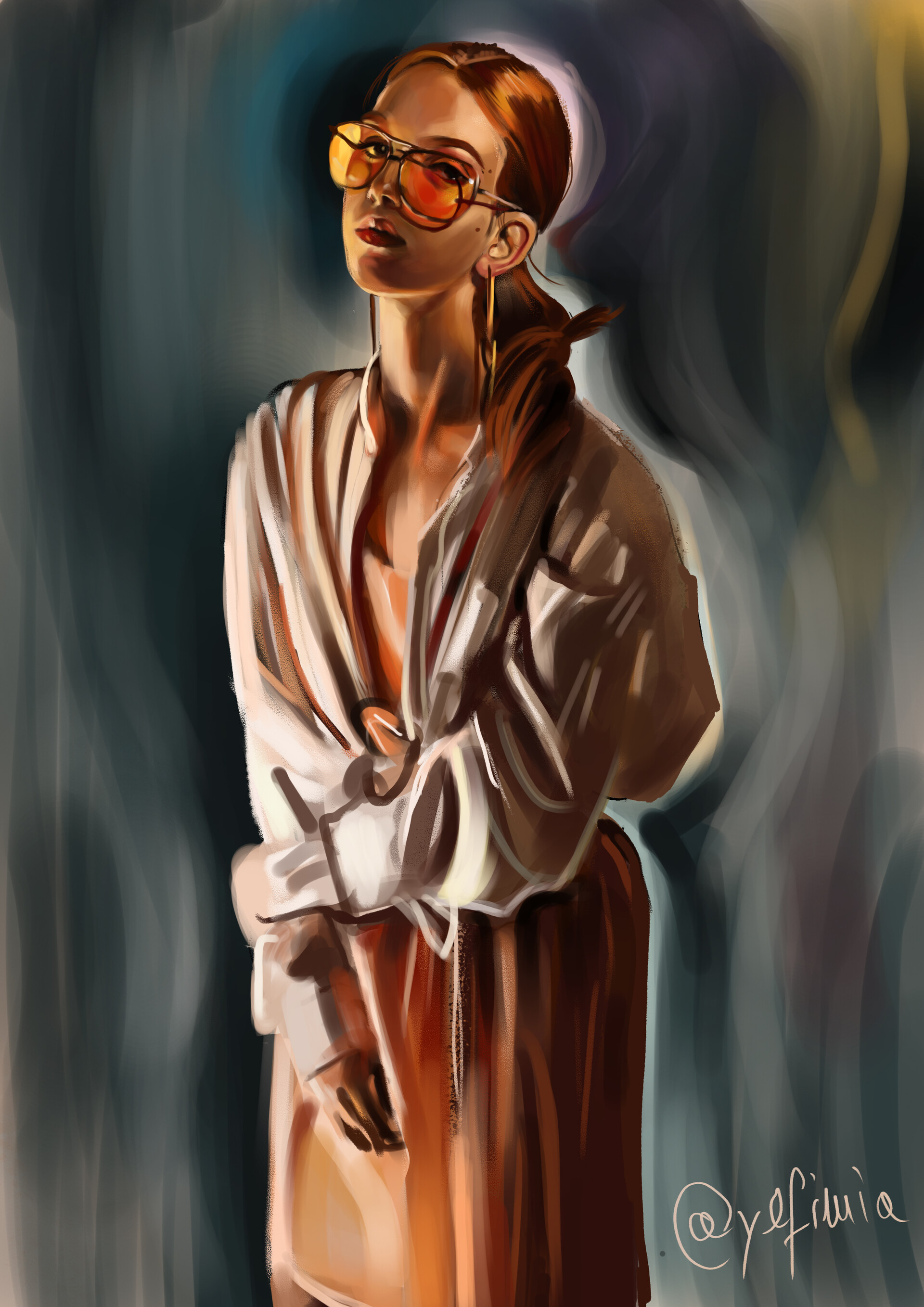 Daria schreiber photostudy orange girl sunglasses 19 06 19