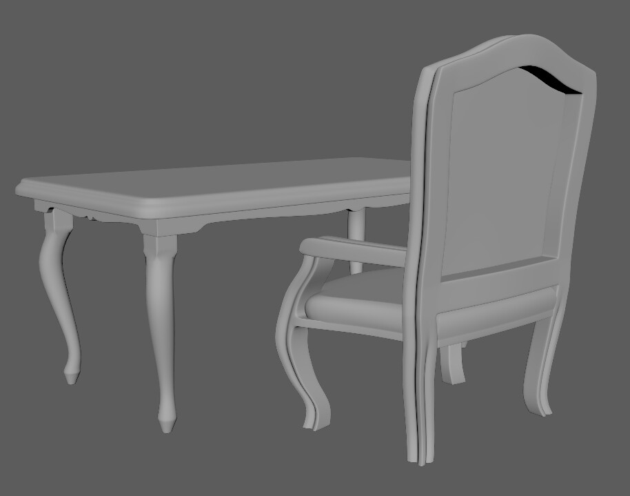 High-res chair and table