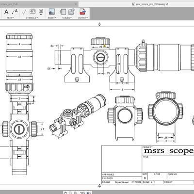 Bryan sawyer scope dimensions