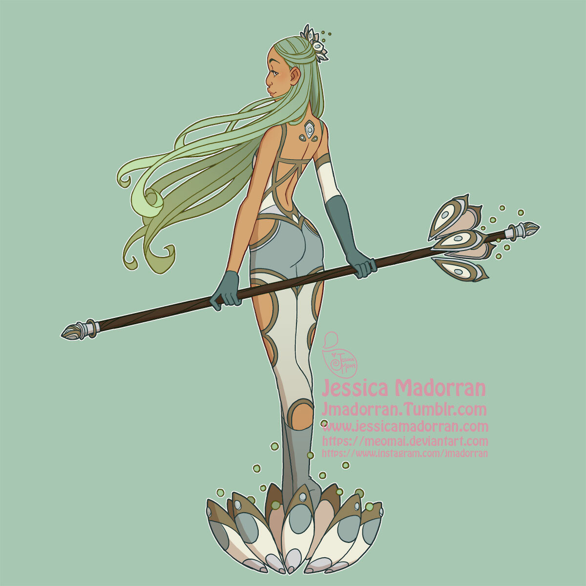 Jessica madorran character design redesign guardian queen 2019 artstation01