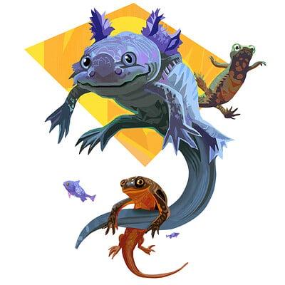 Hugo puzzuoli axolotl small hpuzzuoli