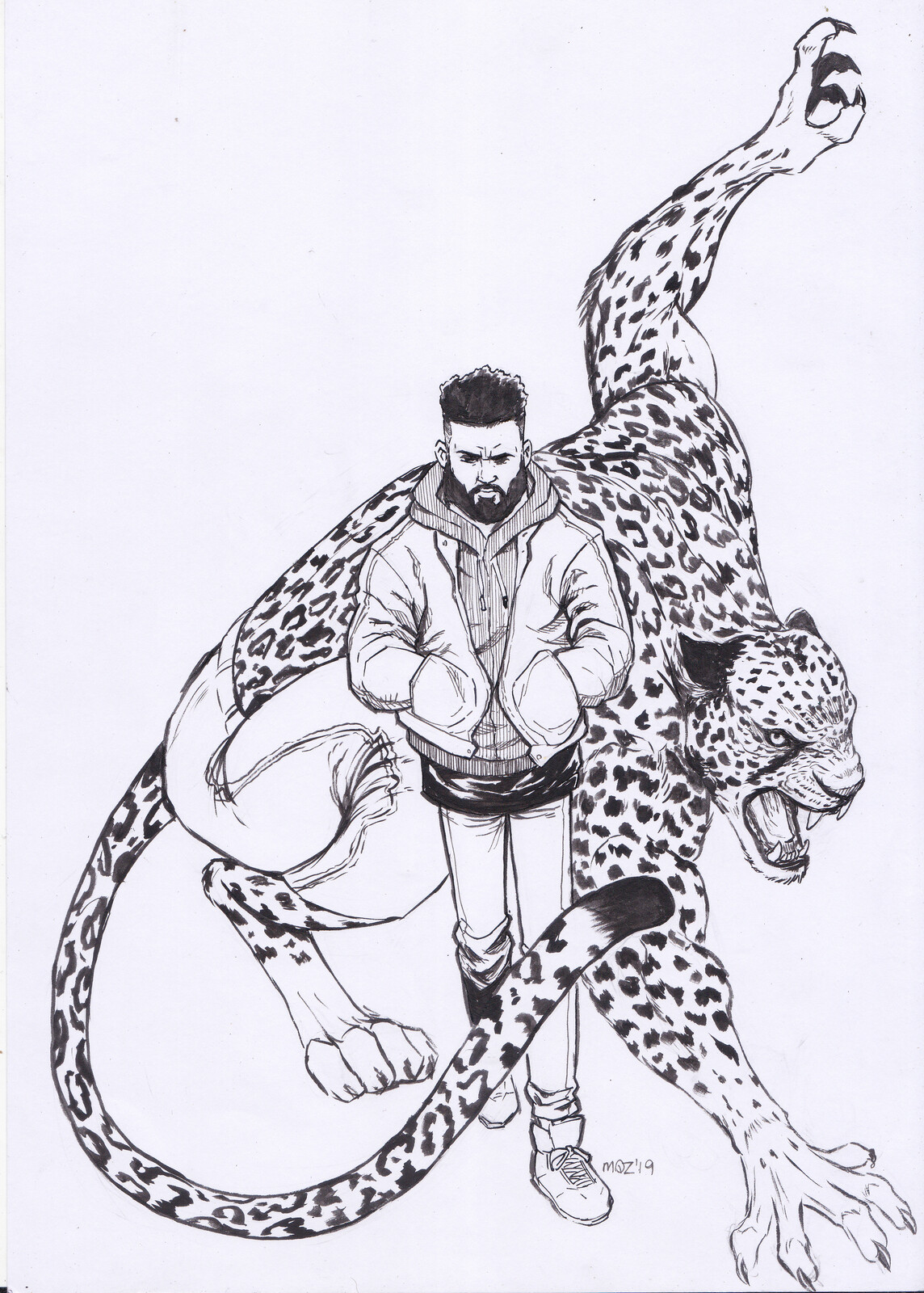 Fernand, the leopard man