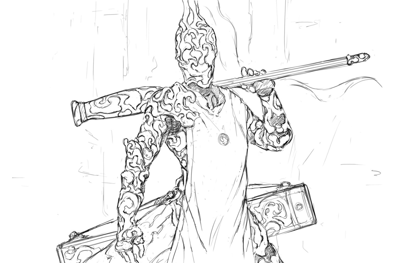 Knight of the Yellow Smoke sketch