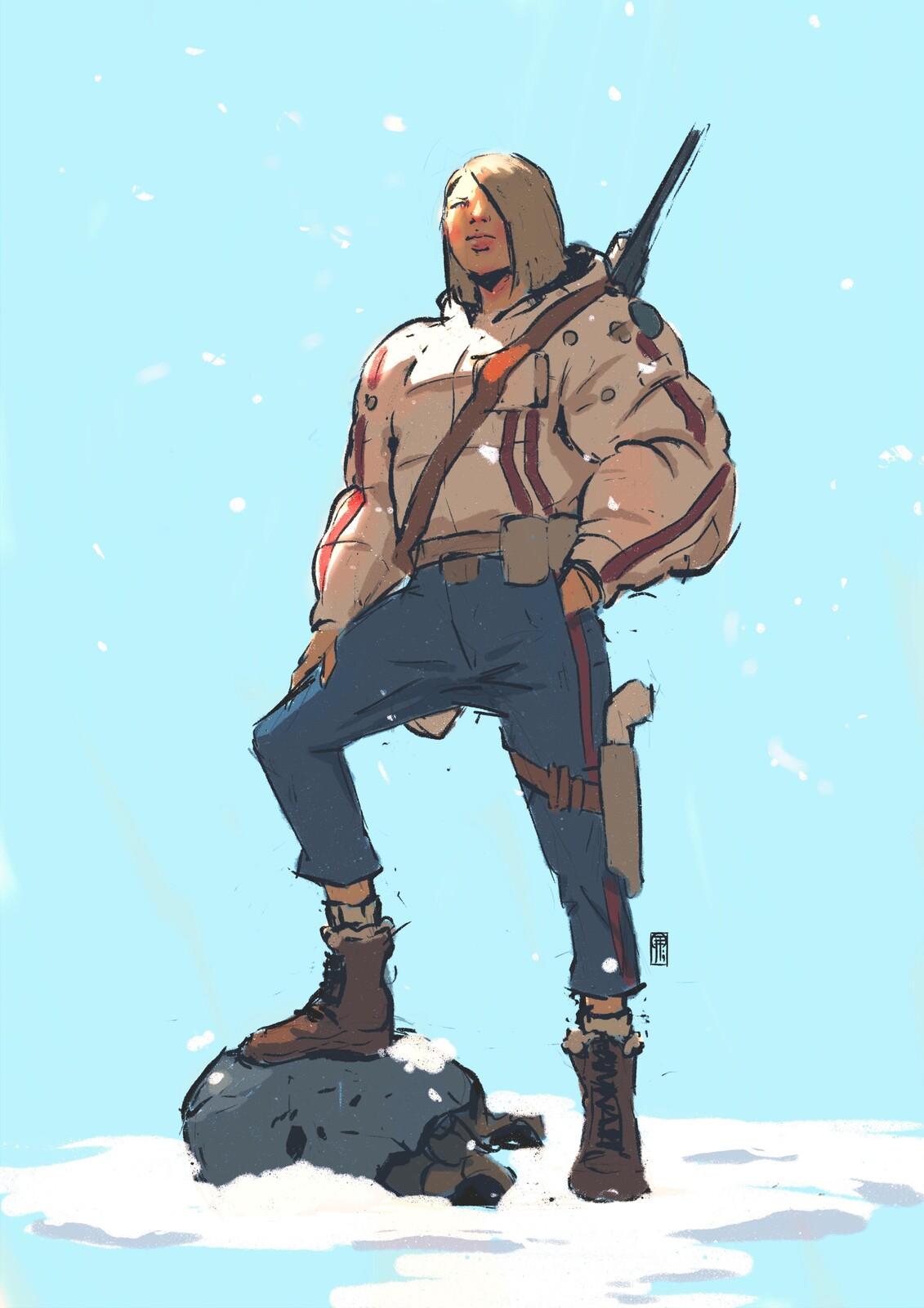 Huntress, doodle.