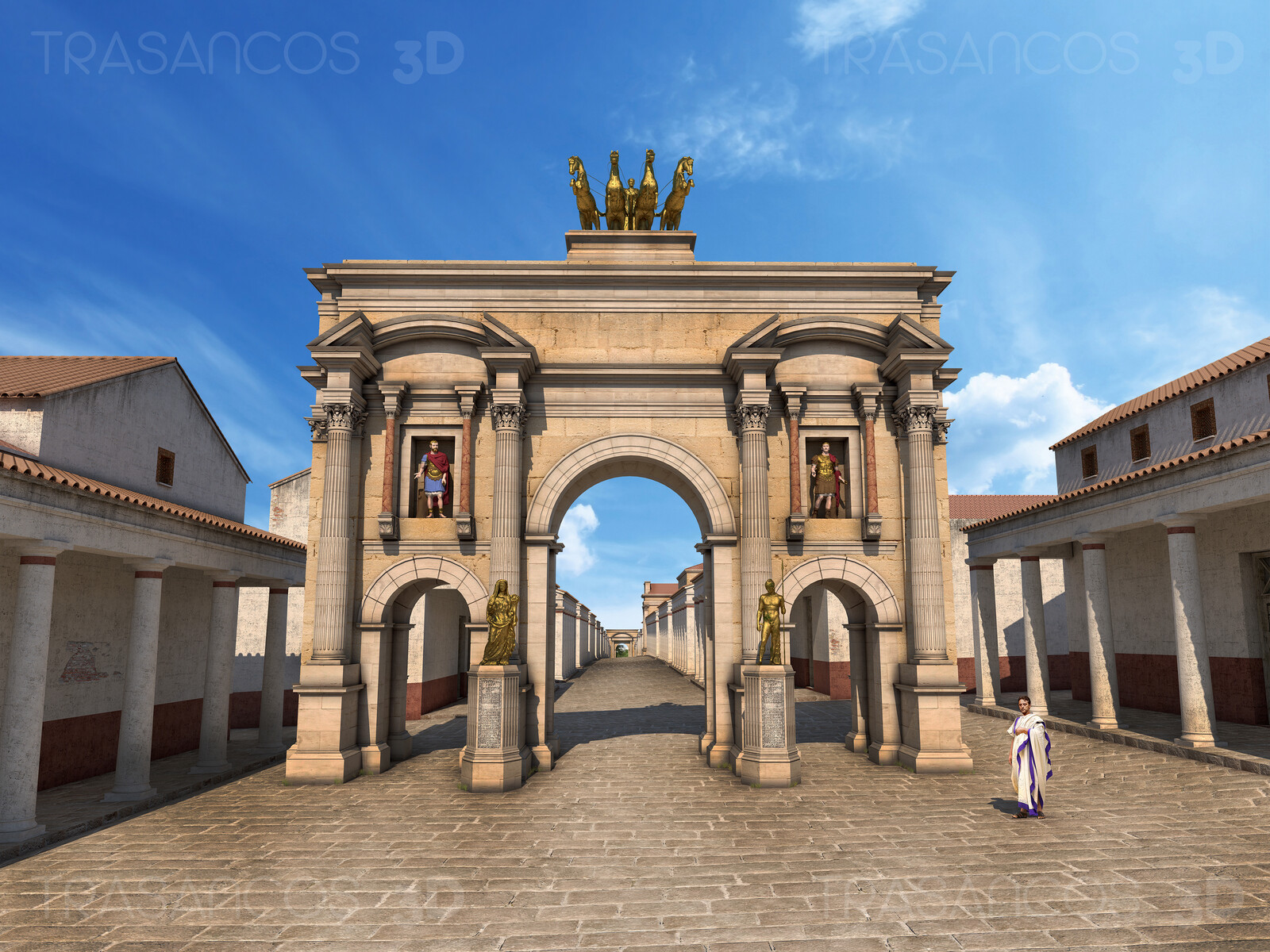 Reconstruciton of the Arc of Trajan in Timgad. Modeled in collaboration with: - Andrés Armesto