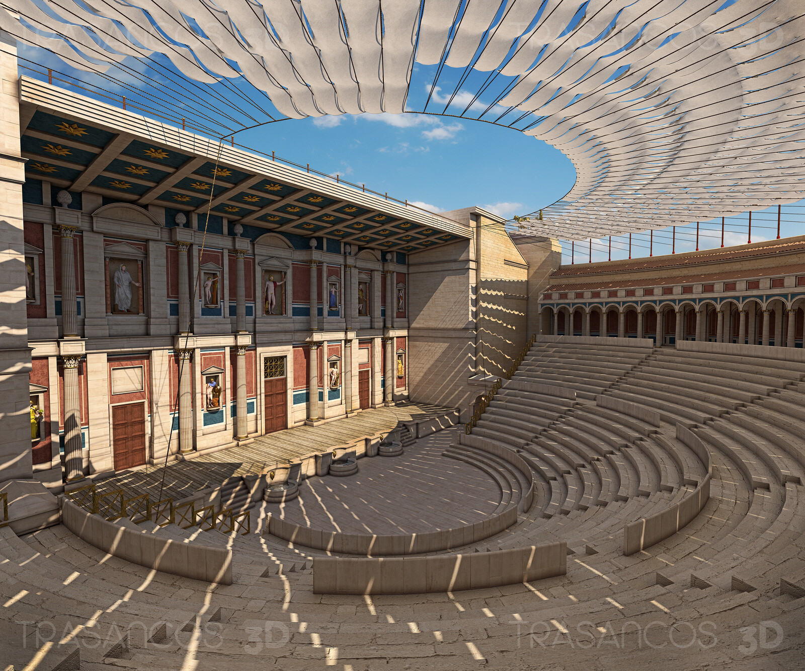 View of the interior of Timgad roman Theatre. Modeled in collaboration with: - Alejandro Soriano
