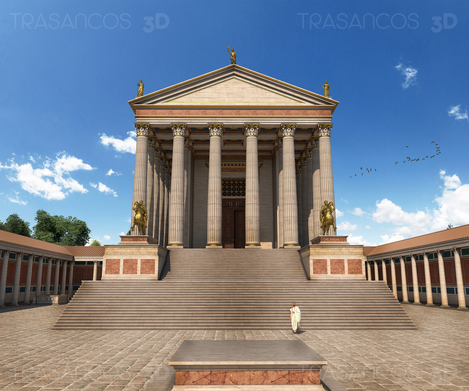 View of the reconstructed roman Capitol of Timgad. Modeled in collaboration with: - Alejandro Soriano