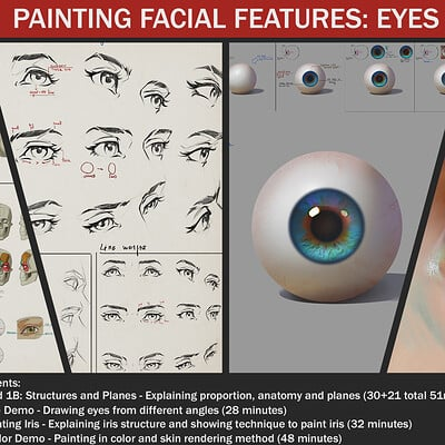 Painting facial features: Eyes
