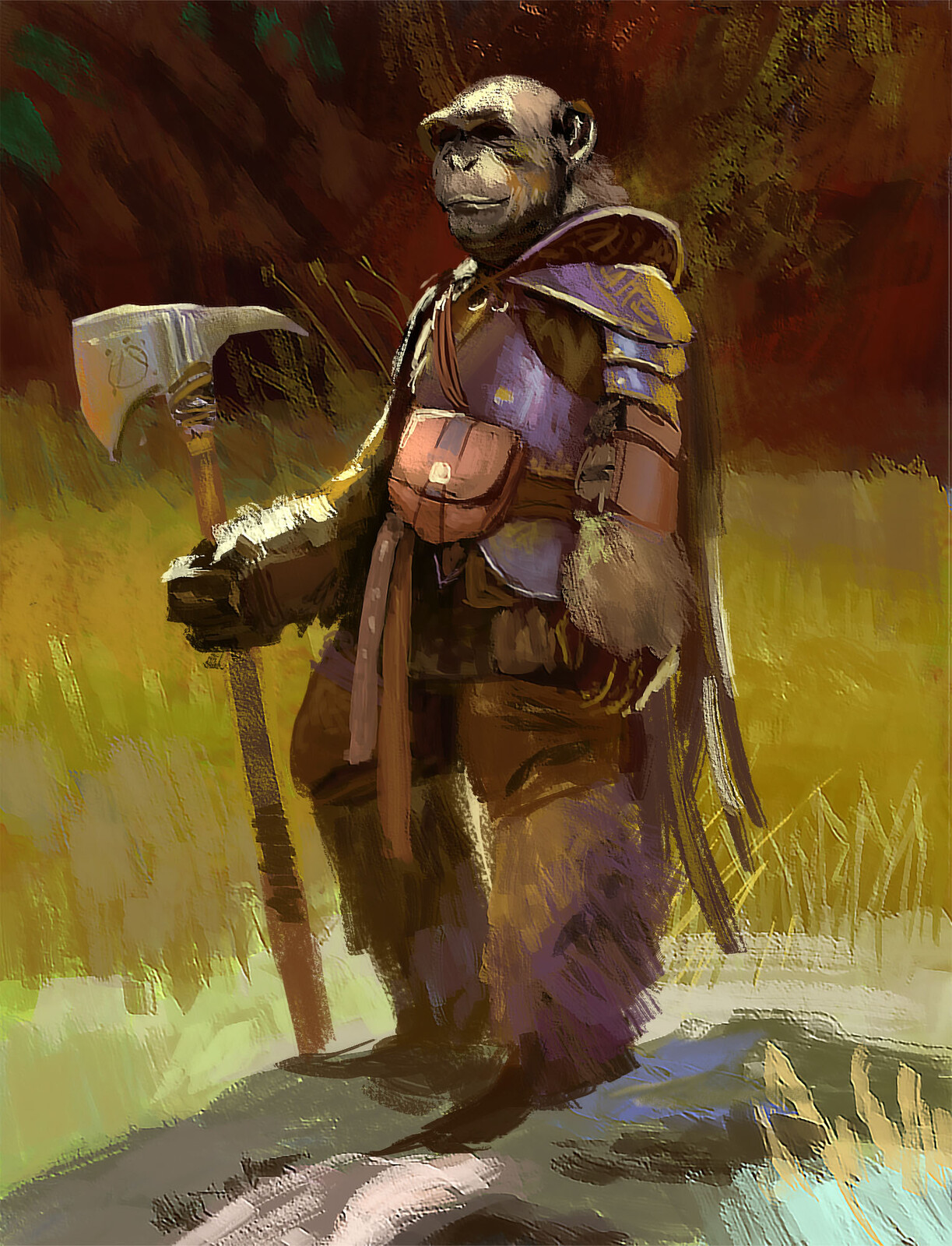 Study: John Park 06 (90-120 min) Mixing it up again with another John Park study. That brush economy… I have to stop thinking so much about details while painting, otherwise I will never get even near to that awesome looseness...