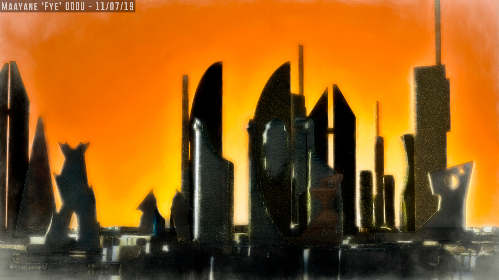 Paradise desert city