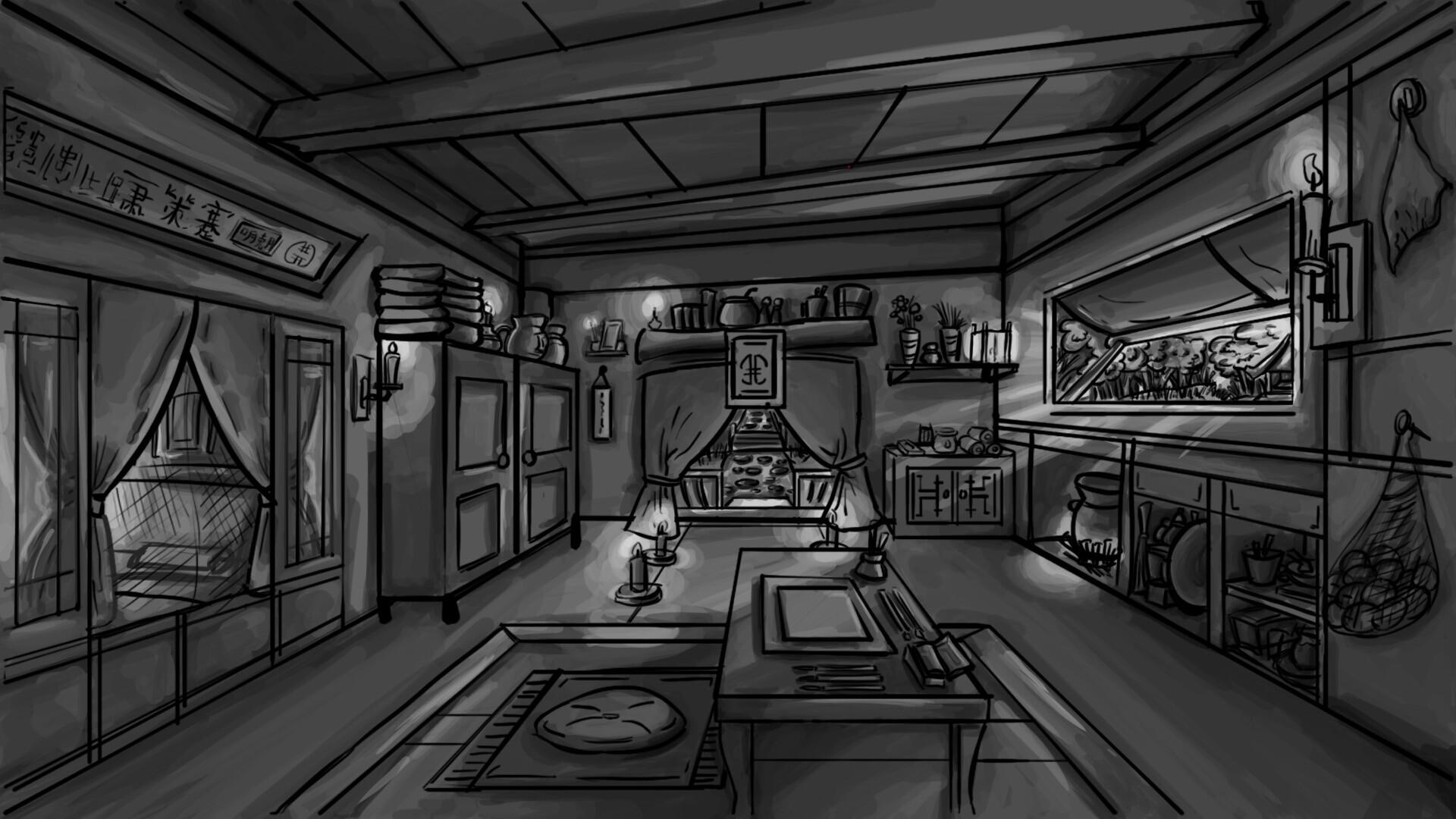 Artstation 2d Character And Environment Design Thaddeus Trevin Yapinski