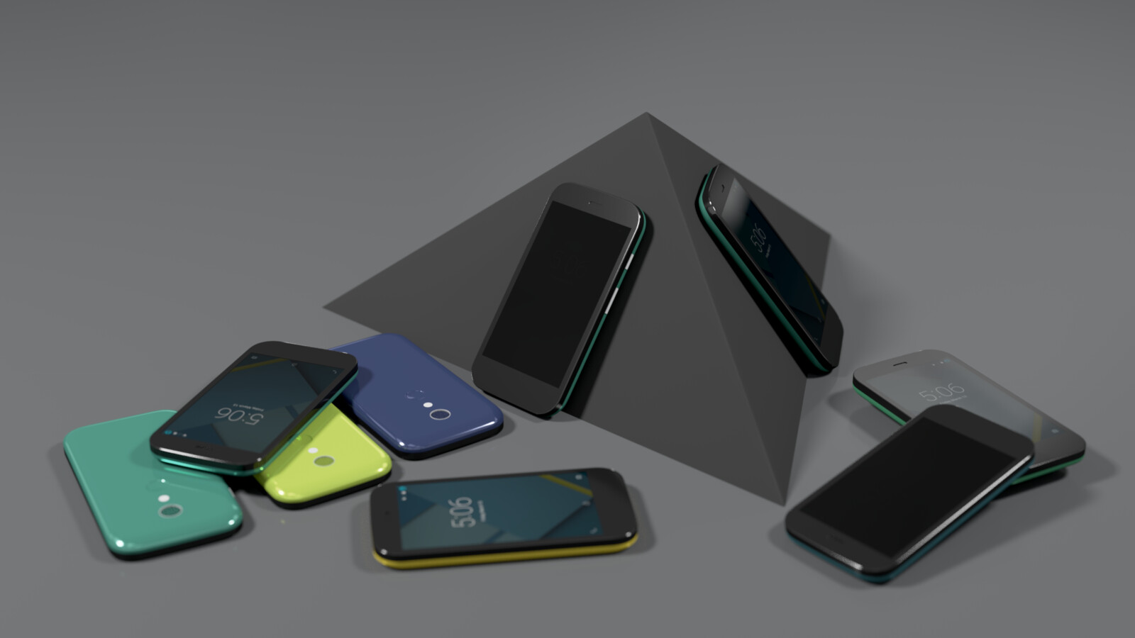 High-poly hard-surface model and beauty render.  This was a quick smartphone study. The referenced phone was Motorola Moto G, the modelling and texturing were made in Blender.