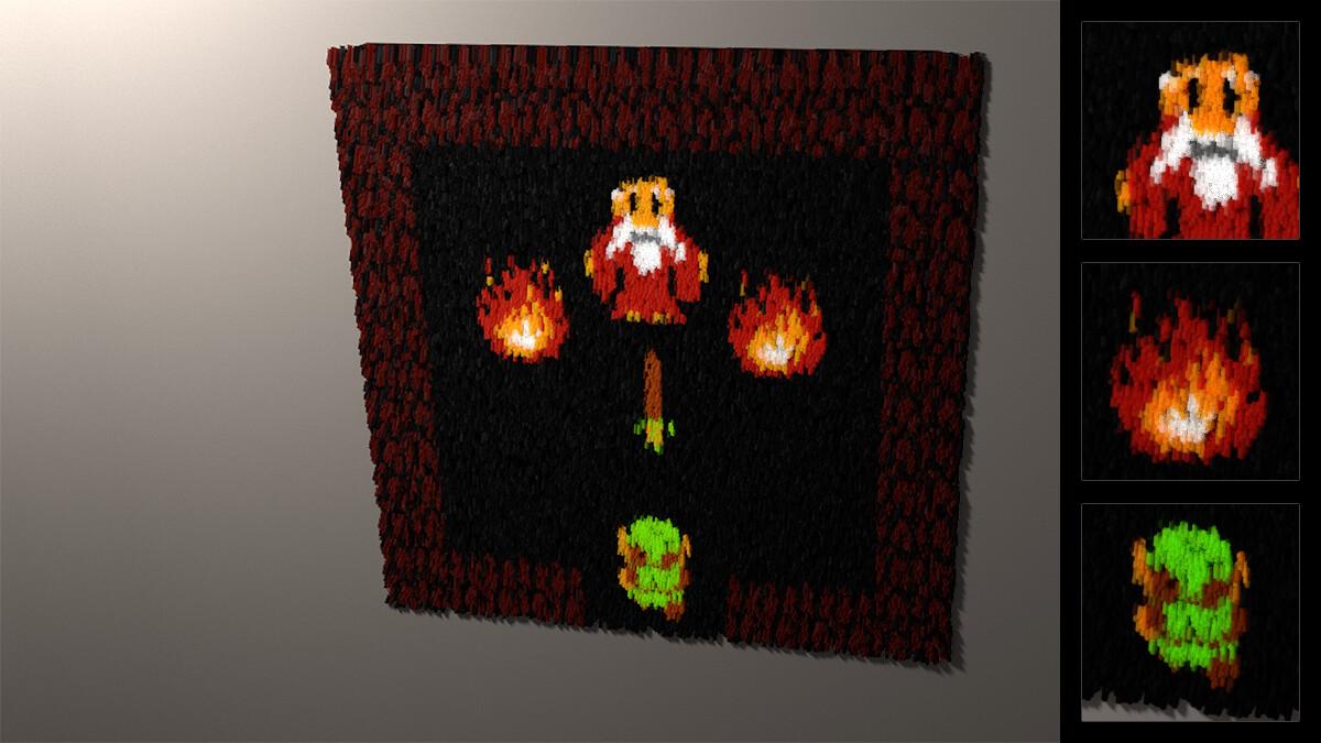 Particle study: Zelda rug (2017)