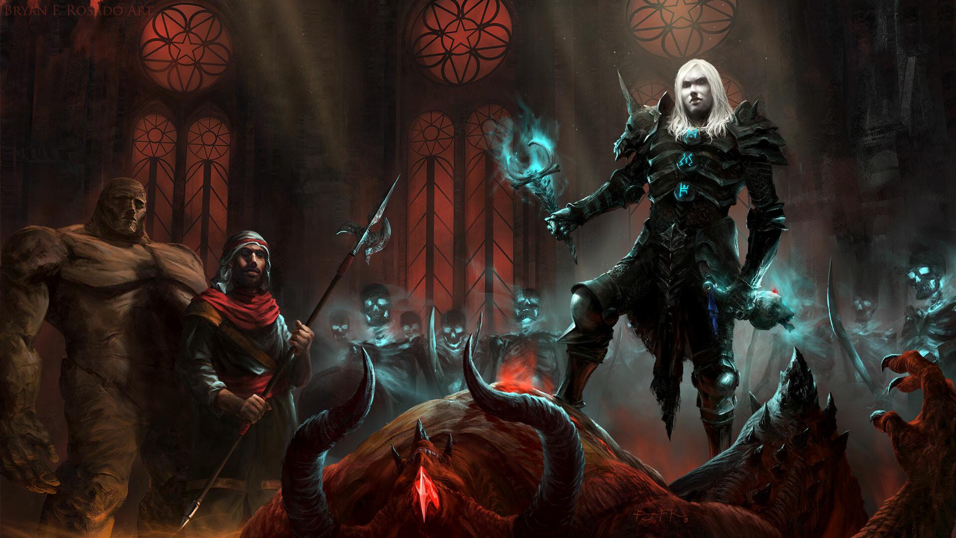 Artstation Diablo Ii Necromancer Fan Art Bryan Fogaca Rosado