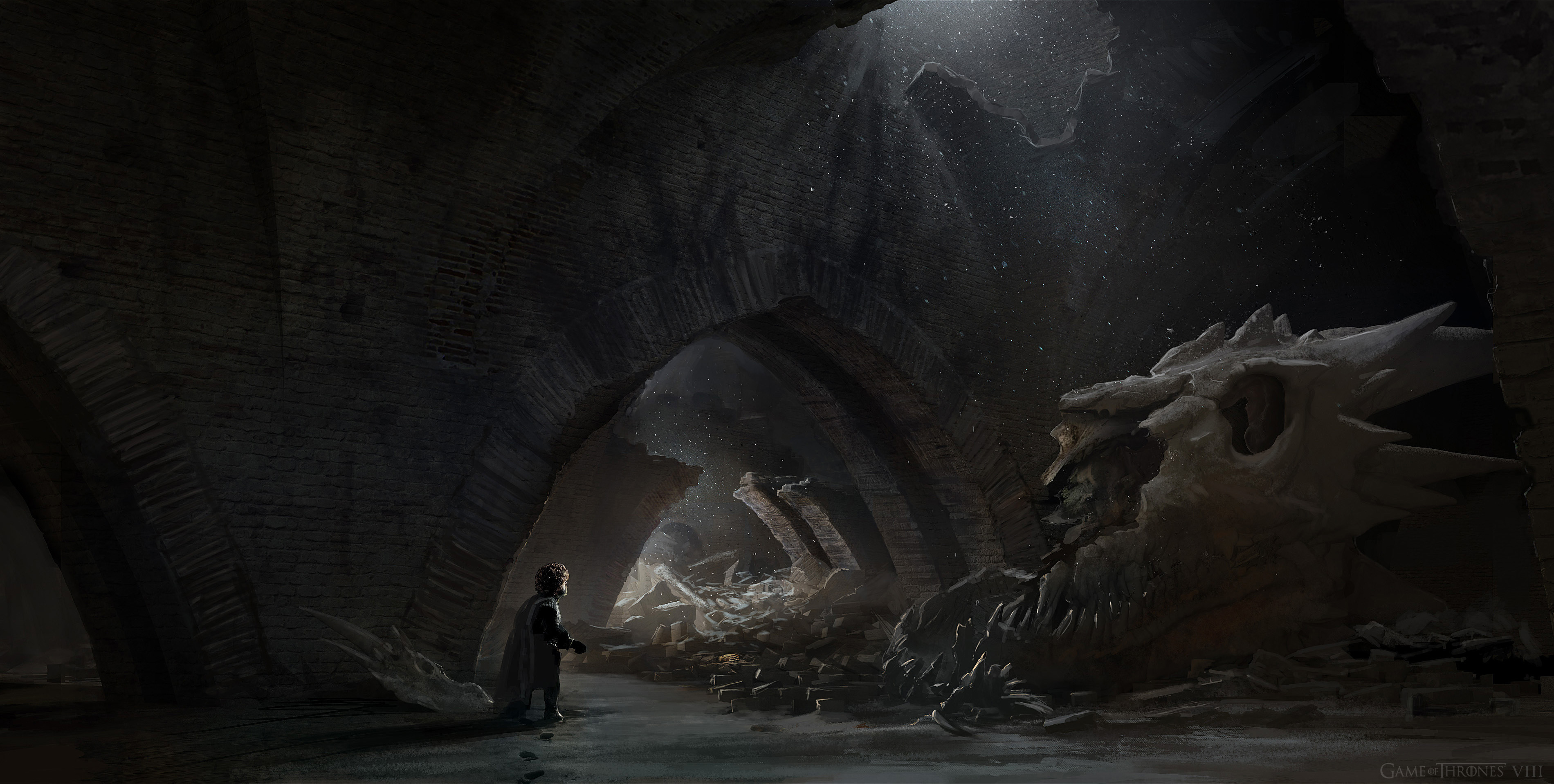 Tyrion reaches the Skull room and spots something in the rubble, final approved version
