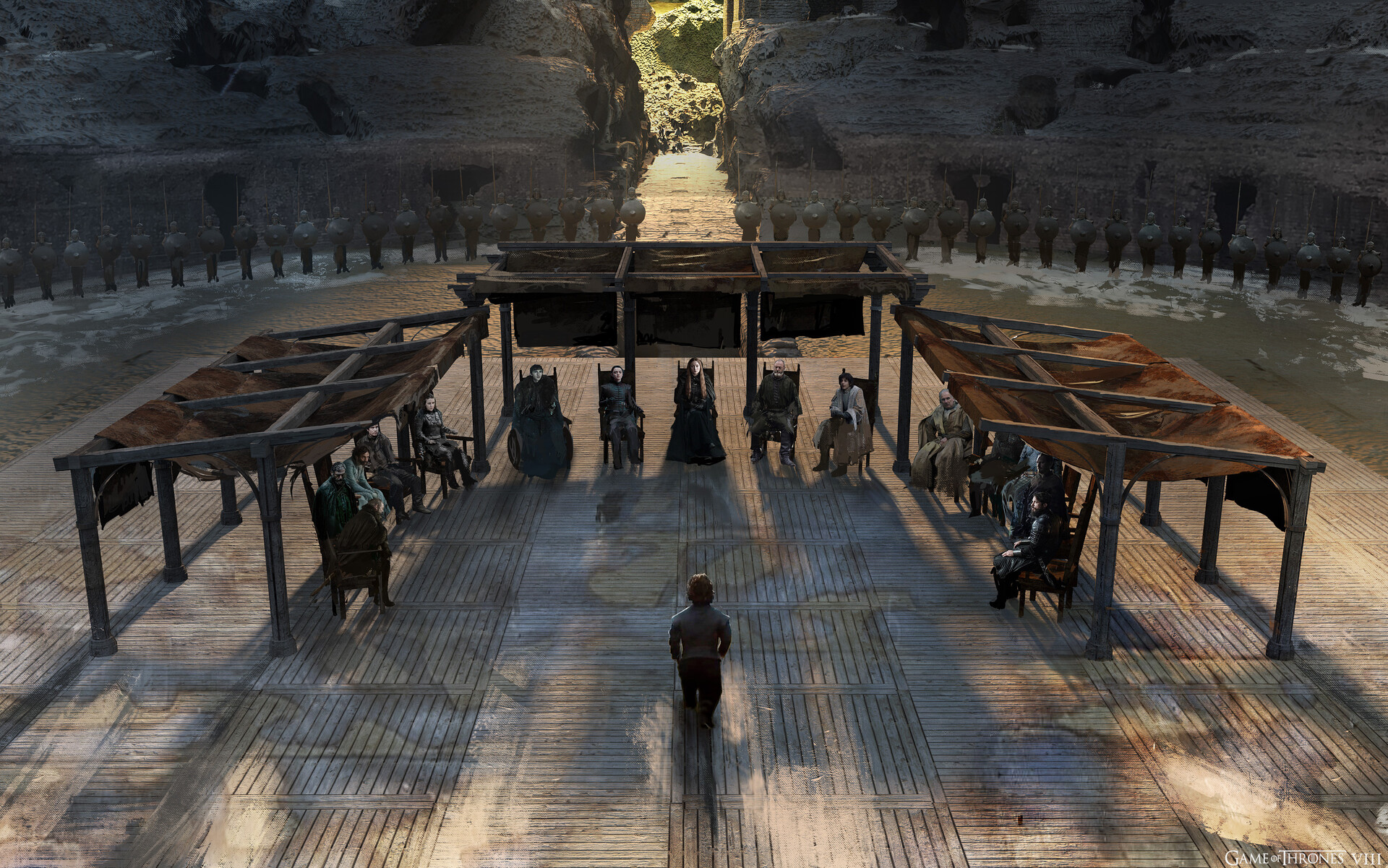 Dragonpit Council of Lords, early version using old Pergola design