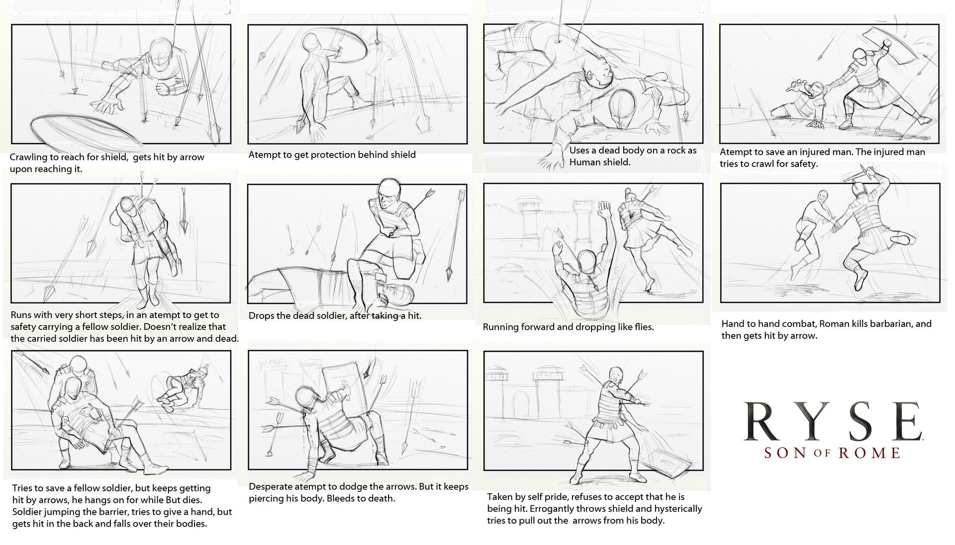 Ryse | Storyboards