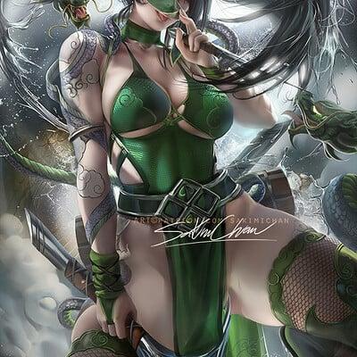 Sakimi chan tattoo goddess akali nsfw02