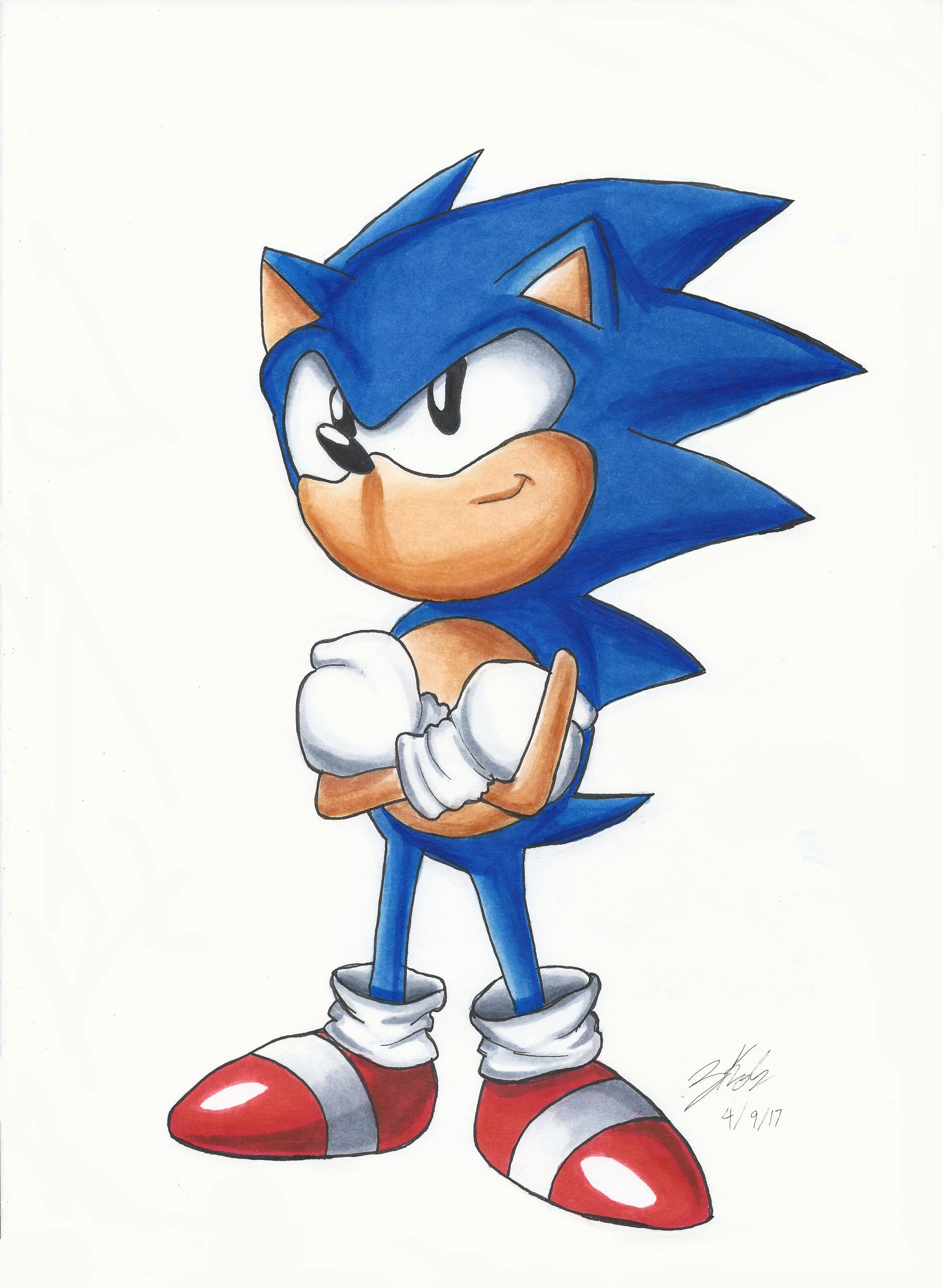 Artstation Sonic The Hedgehog Zach Koh