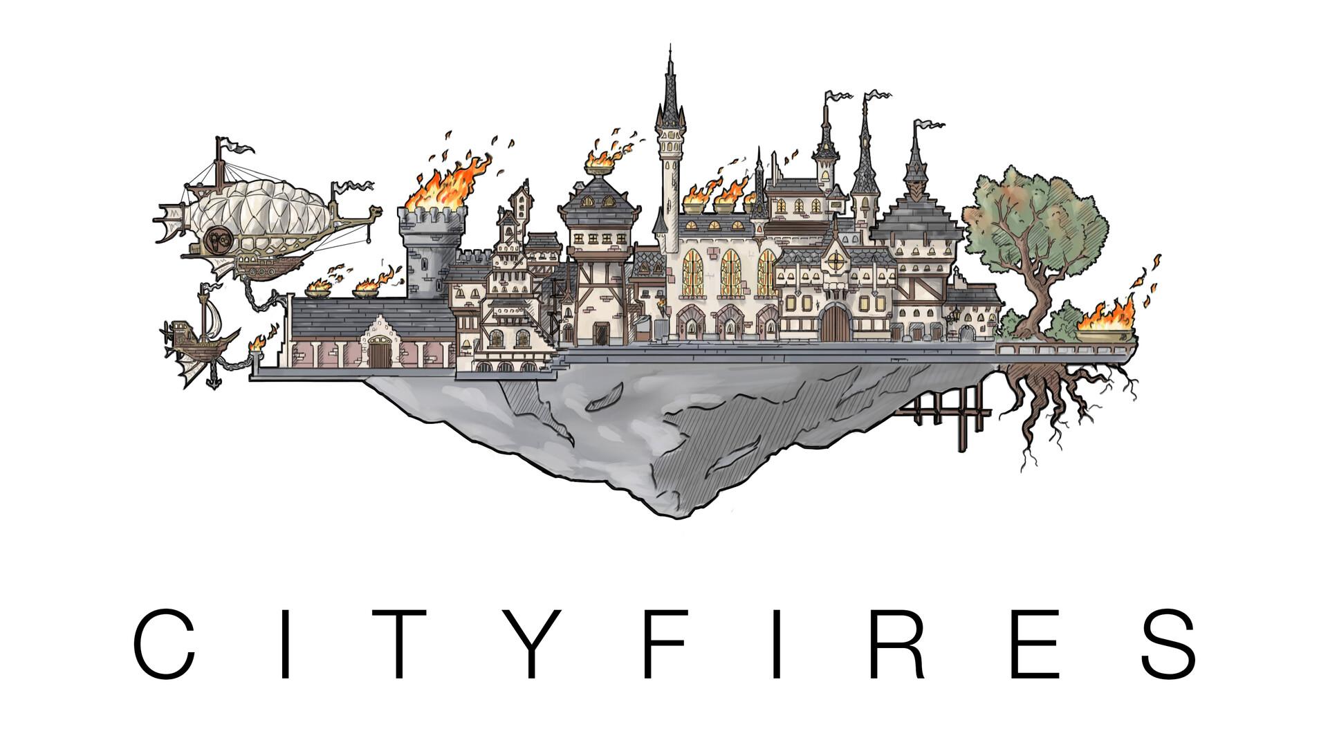 Arnesson art thomas hugo cityfires high color thick outline
