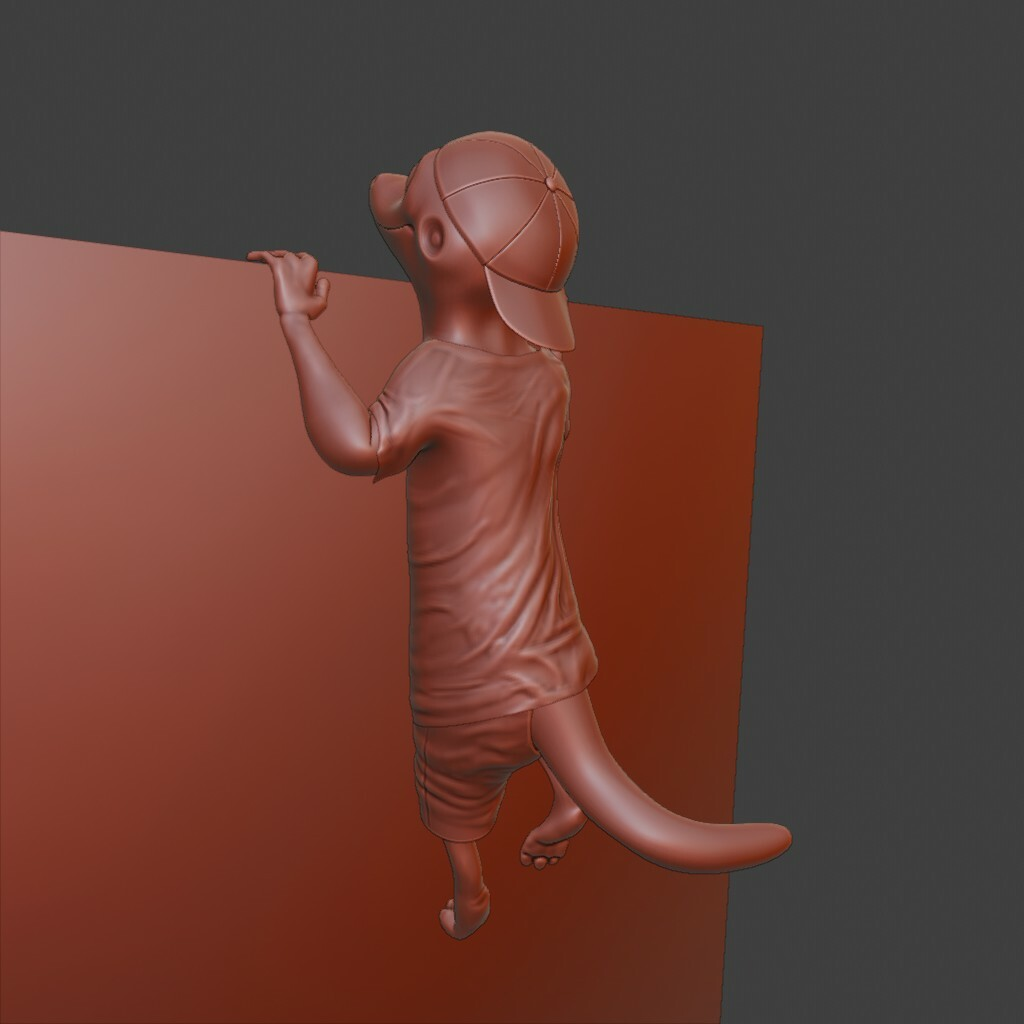 Lizard boy detail sculpting